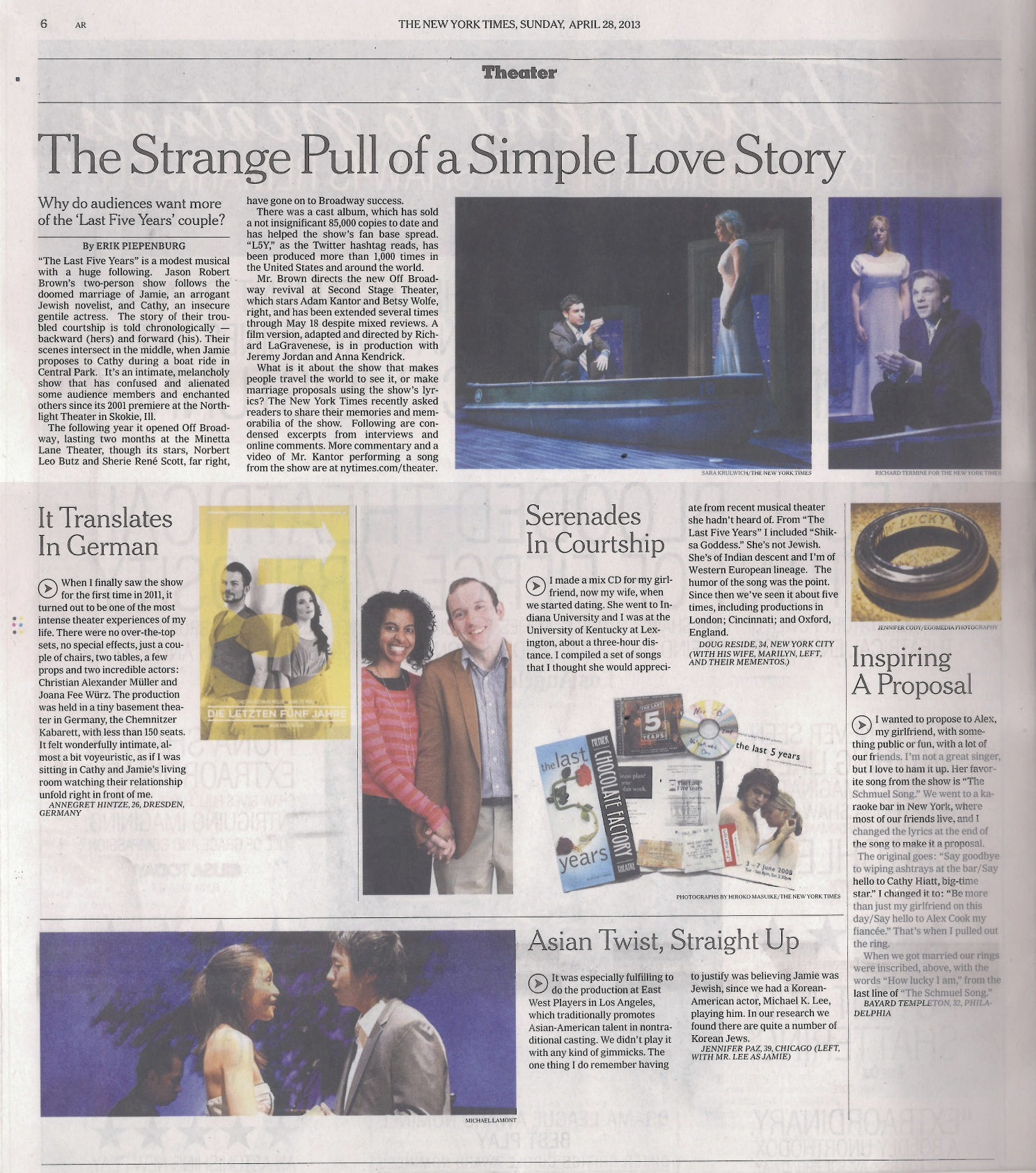 THE LAST FIVE YEARS_NYTimes 4-28-13